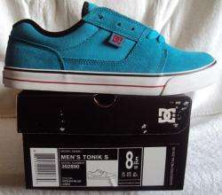 NEW DC MENS SKATE SHOE TONIK S OCEAN BLUE ZS 8.5