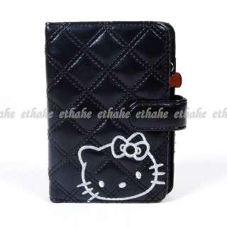Hello Kitty Wallet Card Holder Purse Agenda Black 2E9M