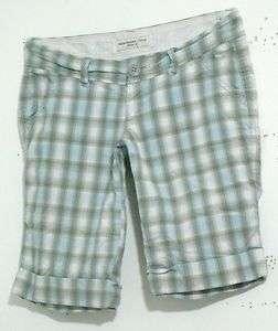 Abercrombie Plaid Bermuda Shorts Womens Size 00 W30
