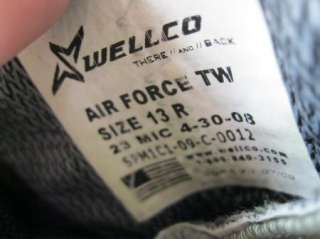 13R WELLCO AIR FORCE TW MILITARY COMBAT BOOTS W/ VIBRAM SOLES