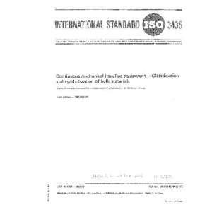 Classification and symbolization of bulk materials ISO TC 101 Books