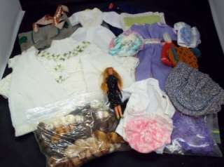 Vintage Barbie Doll Clothes Lot Mixed Dresses Skirts Hats Jackets w