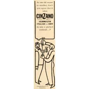 1935 Ad Cinzano Italian Vermouth Dry Cocktail Comic Ale