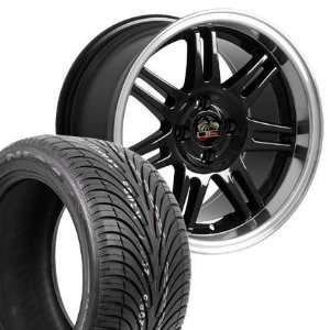 17 Fits Mustang (R) 10th Anniversary 4 L Style Wheels Tires   Black