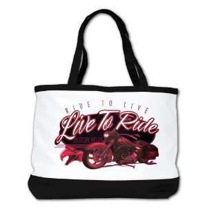 Shoulder Bag Purse (2 Sided) Black Live to Ride Ride to