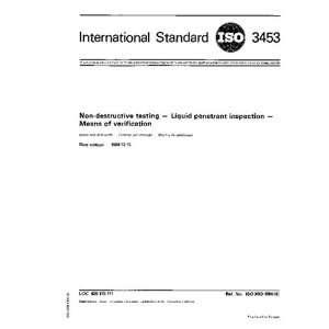 ISO 34531984, Non destructive testing    Liquid penetrant inspection