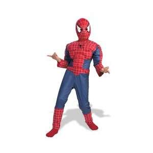 Spider Man Deluxe Muscle Costume Boys Size 7 8 Toys