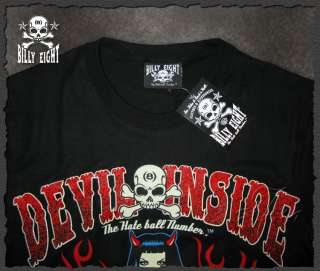 Billy Eight★Devil Inside★Rockabilly T Shirt Psychobilly Hot Rod