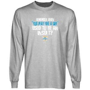 UT Vols T Shirt : Tennessee Lady Vols Ash Like A Girl Long