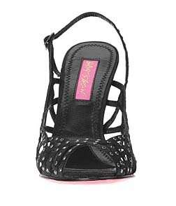 Betsey Johnson SCORPIO Black Fabric Woman Sandal Sz 5.5