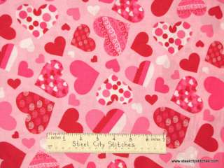 Valentine Heart Love Romance Pink Red Swirl Dot Hearts Cotton Novelty