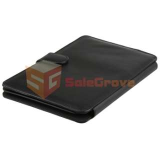 Black Leather Cover Case Stand for  Kindle 3 WiFi