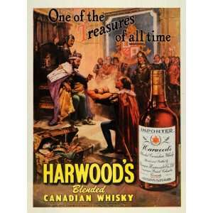 1947 Ad Harwood Canadian Whisky Alcohol King Golden Chalice Royalty