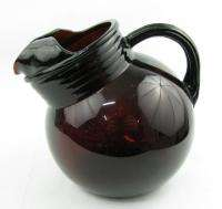 Anchor Hocking Royal Ruby Red Glass Small Ball Pitcher Ice Lip Juice