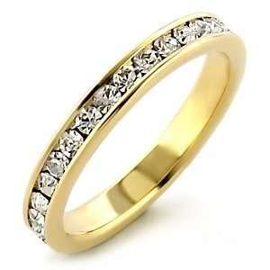 ES5328   Clear Premium Austrian Crystal Gold Tone Eternity