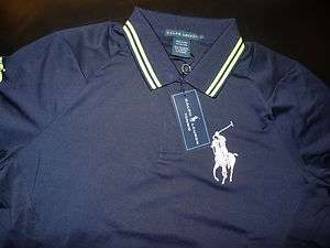 Lauren Polo Women Big Pony Shirt LARGE L US OPEN 789654123012