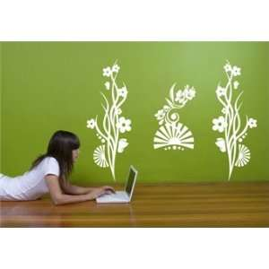Flower Trilogy Wall Decal