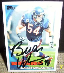 Chicago Bears Brian Urlacher Autographed/Signed Card