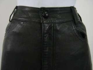 ANNA SUI Black Leather Pants Sz 8