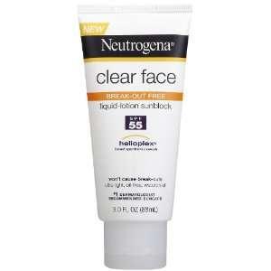 Neutrogena Clear Skin Sunblock Lotion SPF 55, 3 Ounces