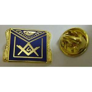 Masonic APRON Freemason Square & Compass Lapel Pin