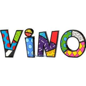 VINO Word Art for Table Top or Wall by Romero Britto