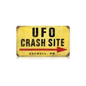 UFO Crash Site Metal Sign