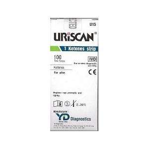 Uriscan Urine Test Strips, Biosys   Model U15   Vial of 100 strips