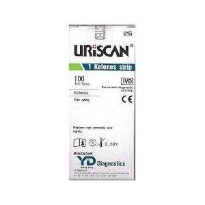 Uriscan Urine Test Strips, Biosys   Model U15   Vial of 100 strips