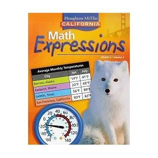 Math Expressions, Grade 4 Houghton Mifflin Math Expressions