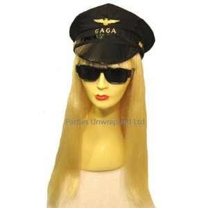 Lady Gaga Fancy Dress Wig, Glasses & Peaked Cap Kit Toys & Games