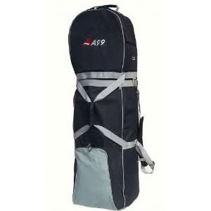 T03 A99 Golf Bag Travel Cover Wheeled Rolling New Black