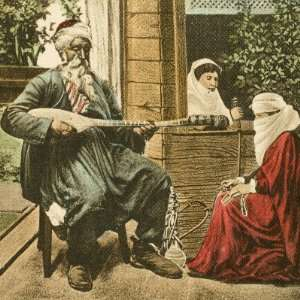 Musician Playing to Two Turkish Women in Bosnia on a