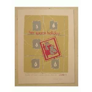 Her Space Holiday Silkscreen Poster Heart