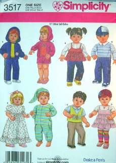 15 Bitty Baby TWIN BOY GIRL Toddler Doll SEWING PATTERN American Girl