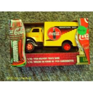 Coca Cola 1 43 Scale Die Cast 1950 Delivery Truck Bank: Toys & Games