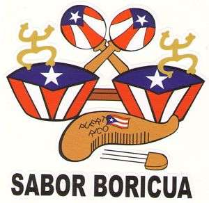 PUERTO RICO FLAG INSTRUMENTS CAR STICKER, DECAL