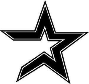 Houston Astros Star Baseball Logo   Vinyl Decal Sticker