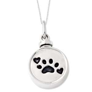 Silver Best Friend Animal Ash Holder Sentimental Expressions Necklace