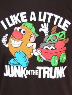 Mr Potato Head Junk In The Trunk Mens Black T Shirt NEW