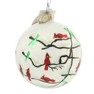 Rare Cardinal Christmas Red Bird Tree Winter Fall Ornament