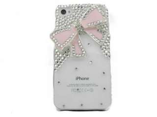 3D Bling Rhinestone Flower Hard Case Cover for iPhone 4, 4S