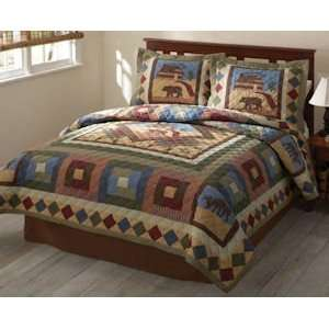 Best Quality Hunting Cabin Twin Quilt By Pem America