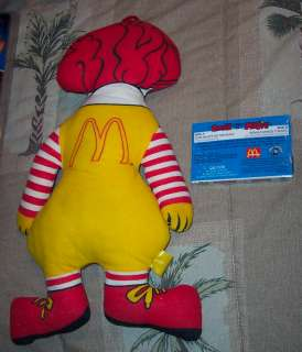 RONALD McDONALD 14 All Cloth Stuffed Doll & Music Tape