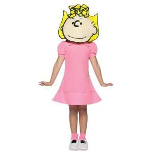 Peanuts Sally Costume Childs 7 10: Toys & Games