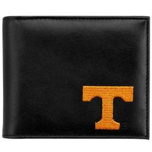 Tennessee Volunteers Black Leather Embroidered Billfold Wallet