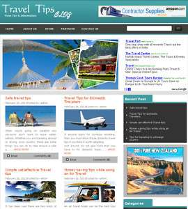 Established Travel Information Tips Website for Sale