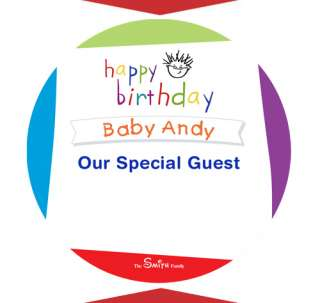 BABY EINSTEIN Birthday Party favor NAME TAG STICKERS