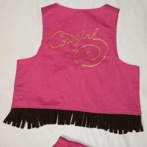 cutie set skirt vest hat horse top tee halloween costume size 4 5