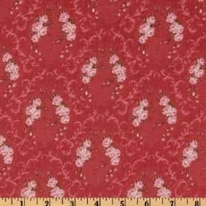 44 Wide Rue Saint Germain Rose Wreath Rose/Pink Fabric